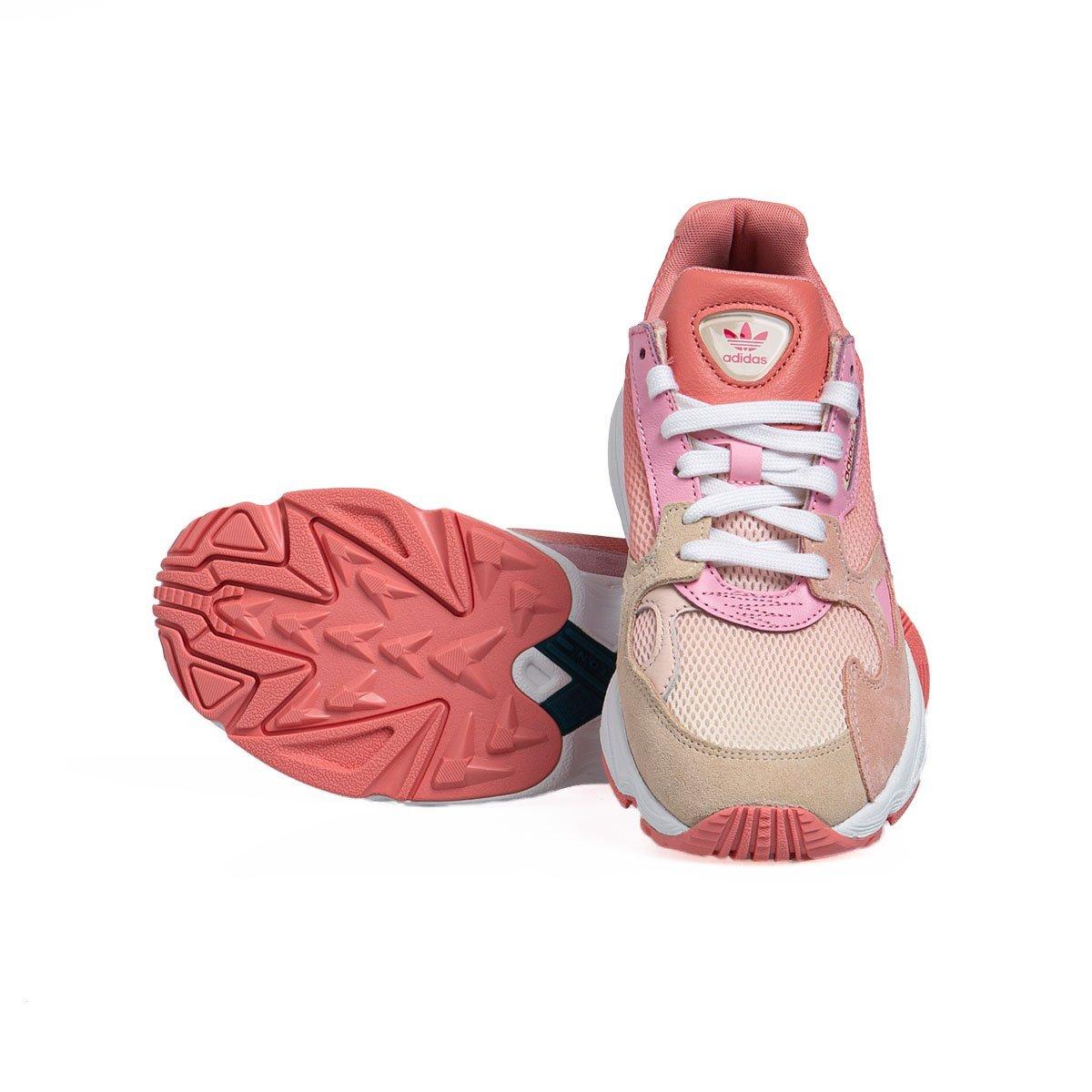 Sneakers damskie buty Adidas Originals Falcon W ecru tintice pinktrue pink (EF1964)