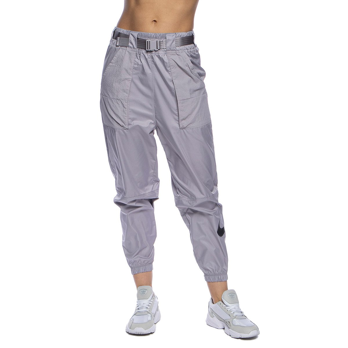 Spodnie damskie Nike NSW Swoosh Pant WVN liliowe