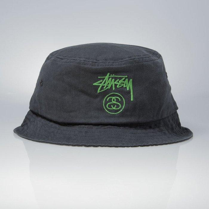 9f5f7d78f78 ... Stussy bucket hat kapelusz Stock Lock Pigment Dye black ...