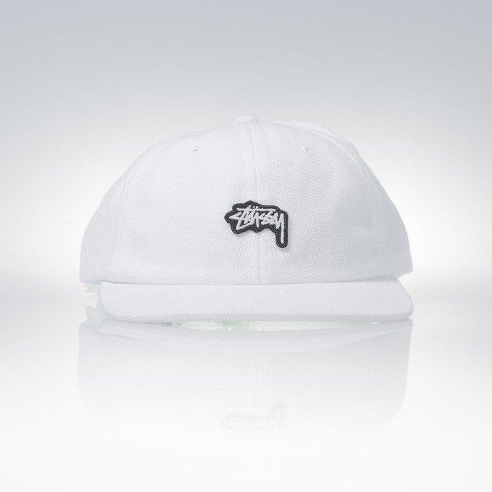 ... Stussy strapback czapka Stock Pique white ... c6db3707547