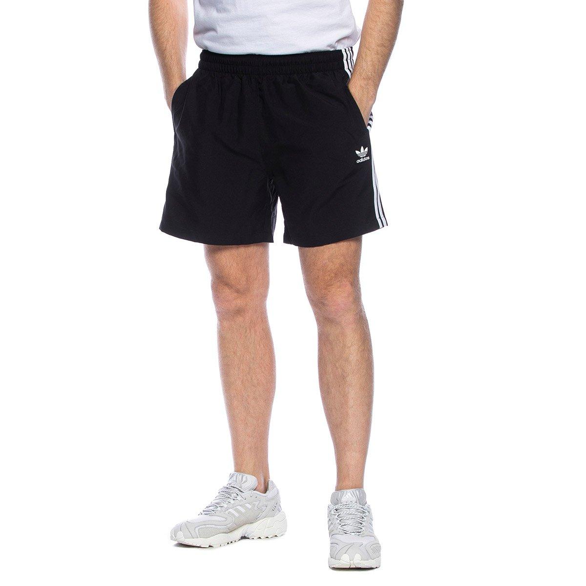 Szorty Adidas Originals 3 Stripes Swim Shorts czarne