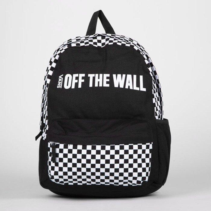 kolejna szansa sklep z wyprzedażami rozmiar 7 Vans plecak Central Realm black / white