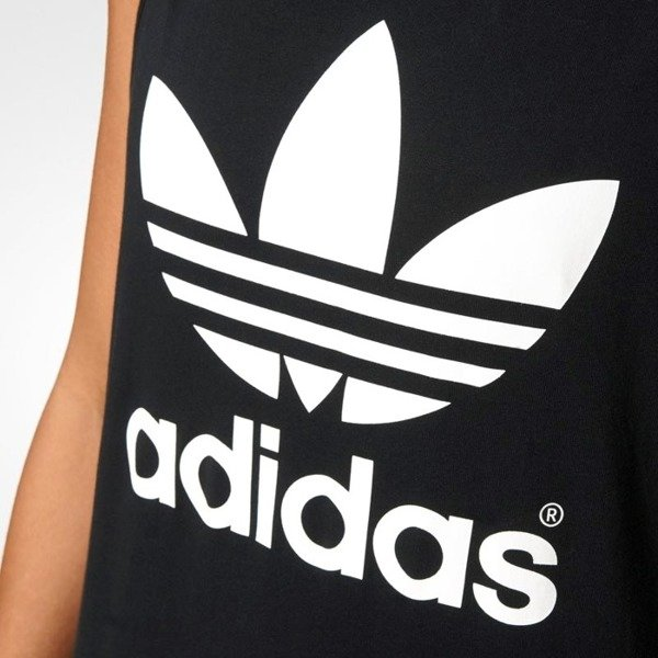 Adidas Originals sukienka Trefoil Tank Top Dress black AJ8160
