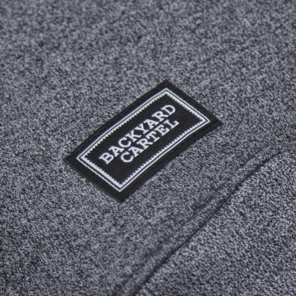 Backyard Cartel bluza Label Hoody dark grey heather