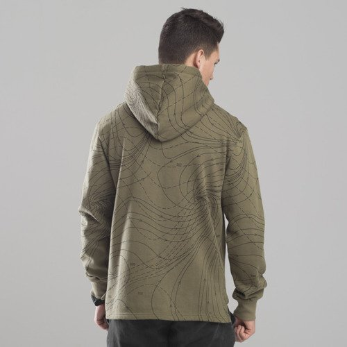 Backyard Cartel bluza sweatshirt Nowhere hoody khaki