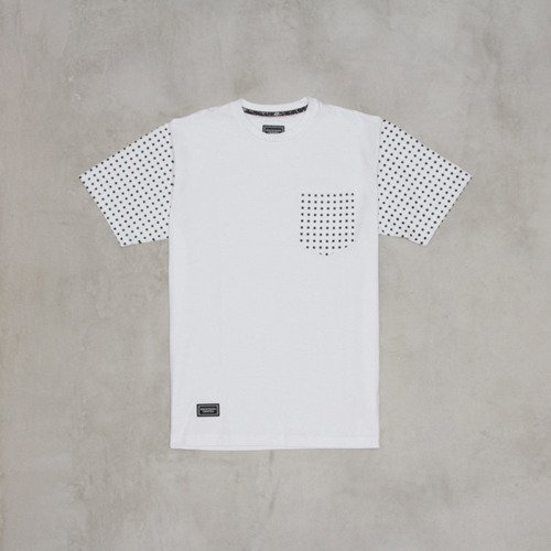 Backyard Cartel koszulka Dots Sleeve white