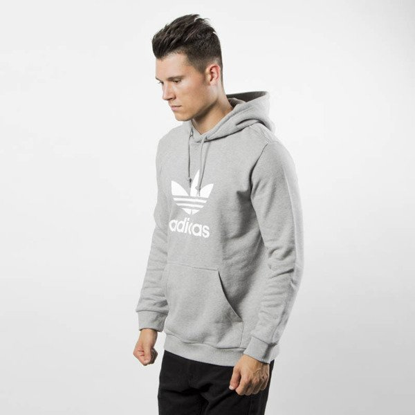 Bluza Adidas Originals Trefoil Hoody medium grey heather DT7963