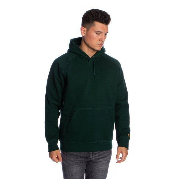 Bluza Carhartt WIP Hooded Chase Sweat zielona (bottle green/gold)