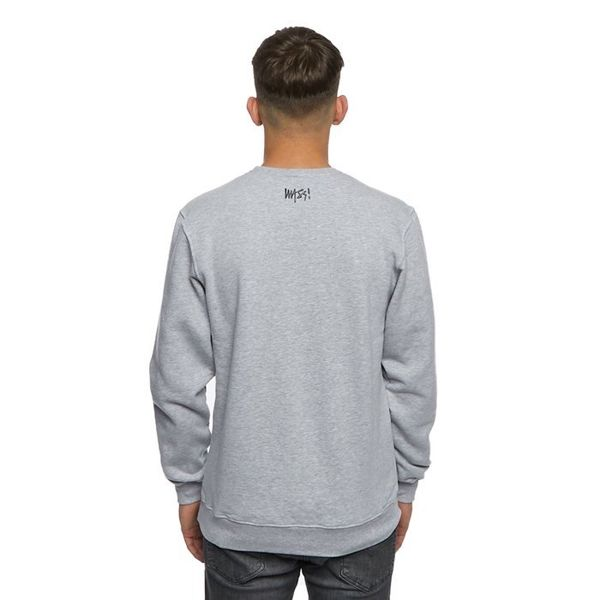 Bluza Mass Denim Sweatshirt Crewneck Signature Small Logo szary melanż
