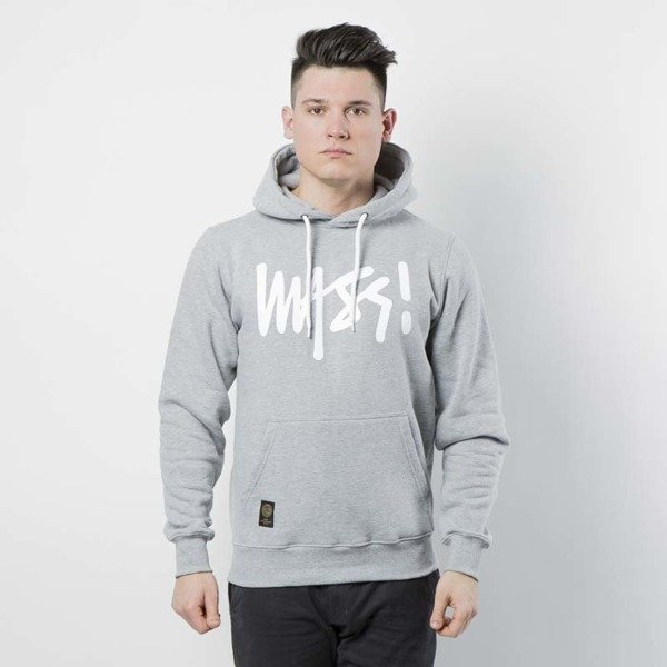 Bluza Mass Denim Sweatshirt Hoody Signature light heather grey