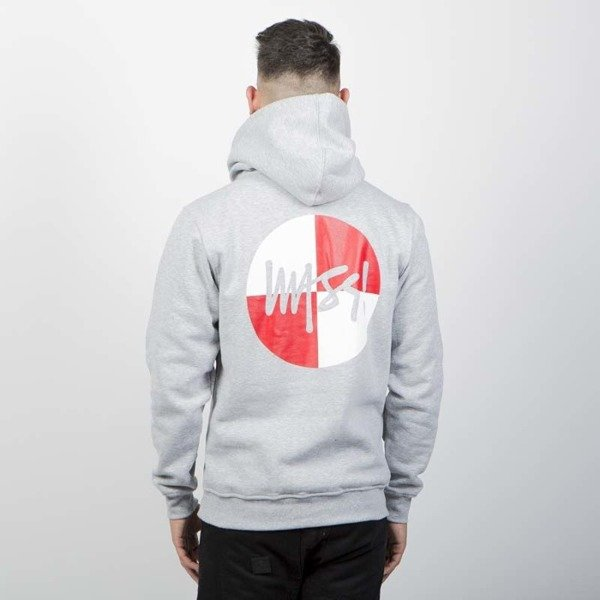Bluza Mass Denim Sweatshirt Signature Flag Hoody light heather grey