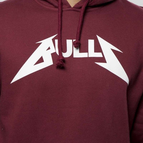 Bluza Mitchell & Ness Chicago Bulls Hoody bordeaux Rock Word Mark