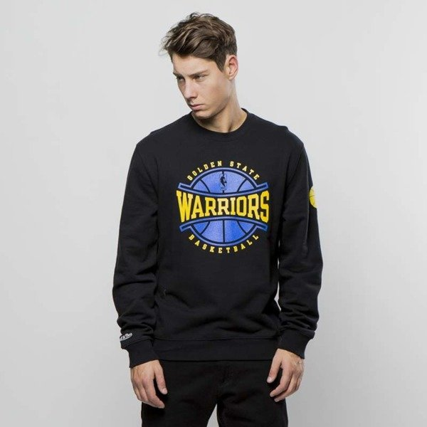 Bluza Mitchell & Ness Golden State Warriors Crewneck black Ball In Play