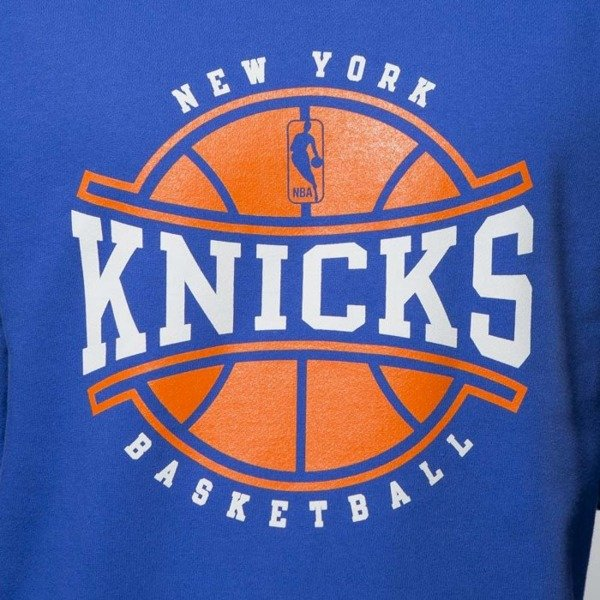 Bluza Mitchell & Ness New York Knicks Crewneck royal Ball In Play