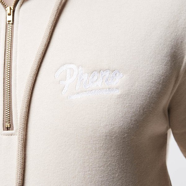 Bluza Phenotype sweatshirt 1/4 Zippers Hoodie sand