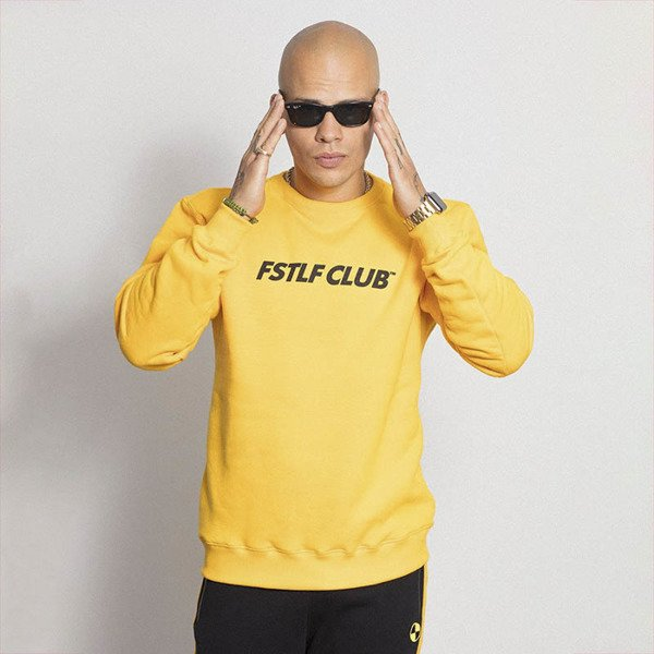 Bluza R.I.P. Fast Life Club Crewneck yellow