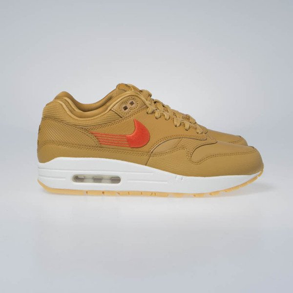 Buty Sneakers WMNS Nike Air Max 1 PRM wheat/team orange-gum yellow (454746-701)