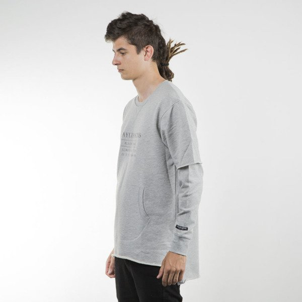 Cayler & Sons BLACK LABEL bluza Box Cut Off Layer Crewneck grey heather / grey BL-CAY-SU16-AP-03-01