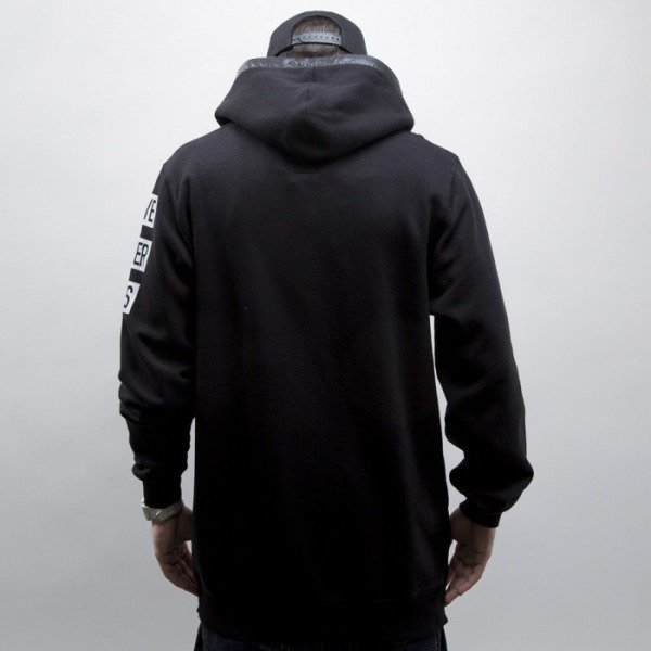 Cayler & Sons Black Label bluza Hood Love Long hoody black / white (BL-CAY-SS15-AP-04-01)