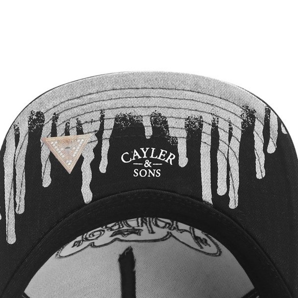 Cayler & Sons White Label snapback czapka Tagged Up Cap concrete grey / black / silver (WL-CAY-SS16-22)