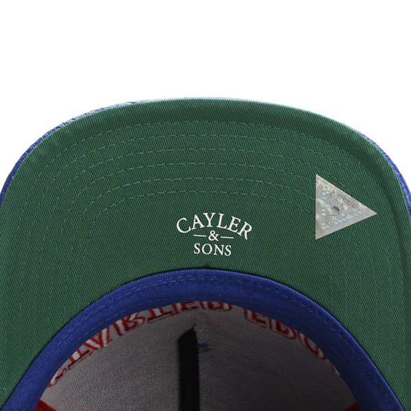 Cayler & Sons White Label snapback czapka The Six Cap royal blue / red / white WL-CAY-SU16-24