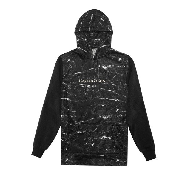 Cayler & Sons bluza sweatshirt Infinity Long Hoody black marble / gold WL-CAY-AW16-AP-05