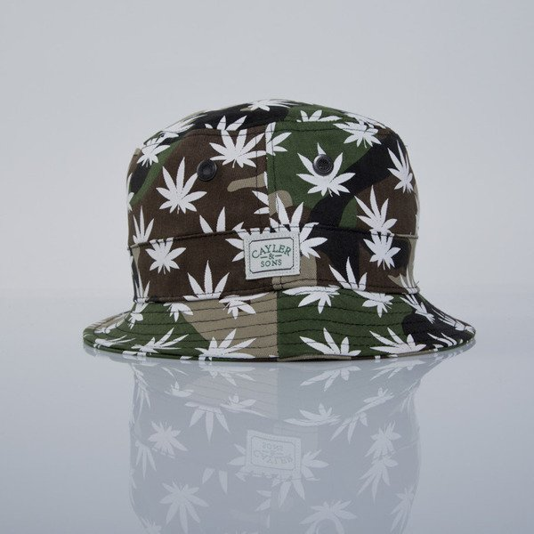 Cayler & Sons kapelusz bucket hat Best Budz woodland / white (GL-CAY-AW15-BH-06)