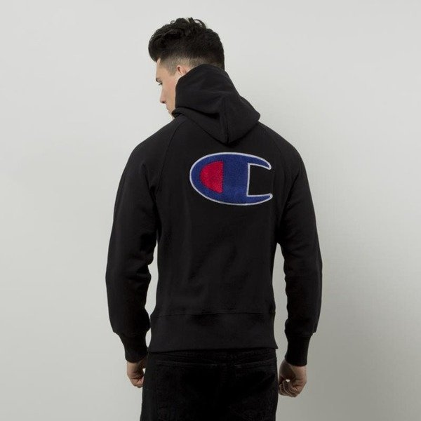 Champion bluza sweatshirt  Half Zip Hooded black 209752S16-2175