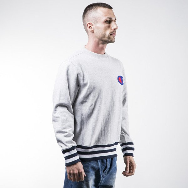Champion bluza sweatshirt Neck crewneck light heather grey (209762-8856)