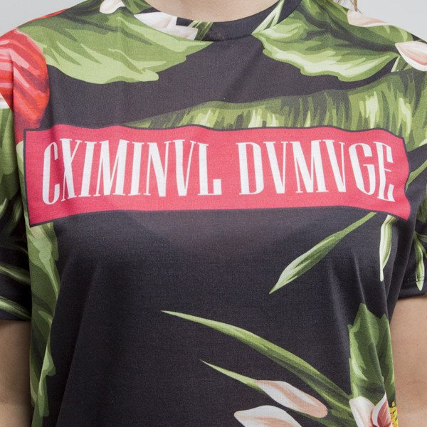 Criminal Damage koszulka Samo black / multi WMNS
