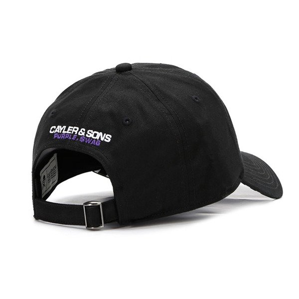 Czapka Cayler & Sons White Label Purple Swag Curved Cap black
