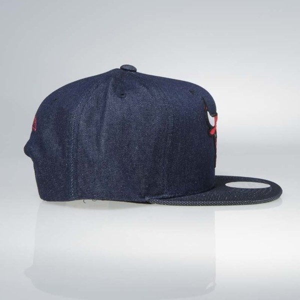 Czapka Mitchell & Ness snapback Chicago Bulls denim Raw Denim 3T PU