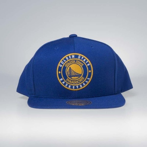 Czapka Mitchell & Ness snapback Golden State Warriors blue Twill Circle Patch