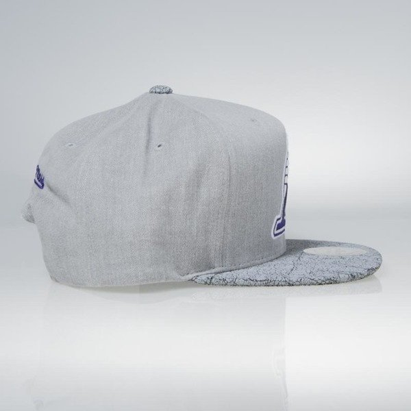 Czapka Mitchell & Ness snapback Los Angeles Lakers grey Cracked