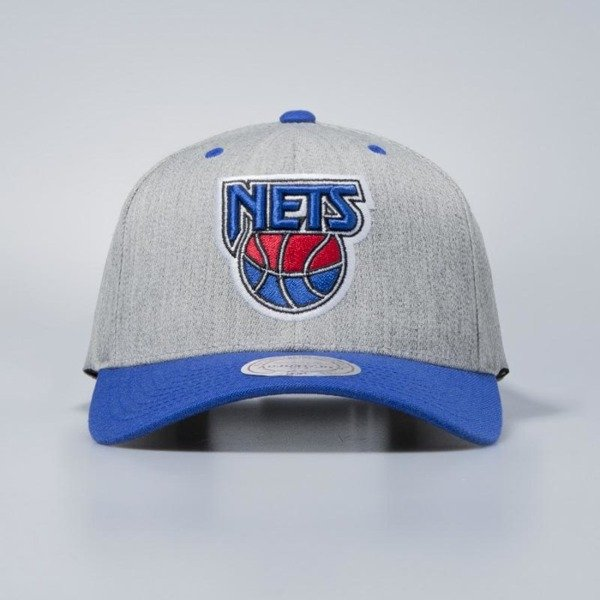 Czapka Mitchell & Ness snapback New Jersey Nets grey / royal Team Logo 2-Tone