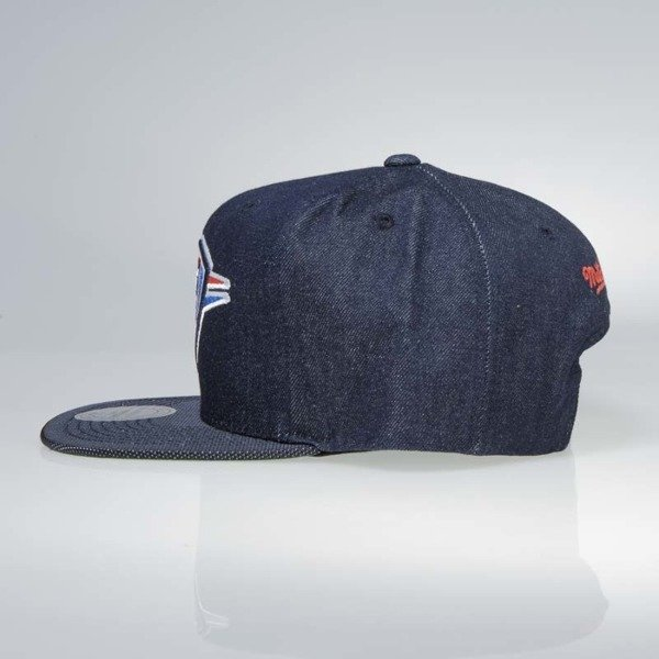 Czapka Mitchell & Ness snapback Oklahoma City Thunder denim Raw Denim 3T PU