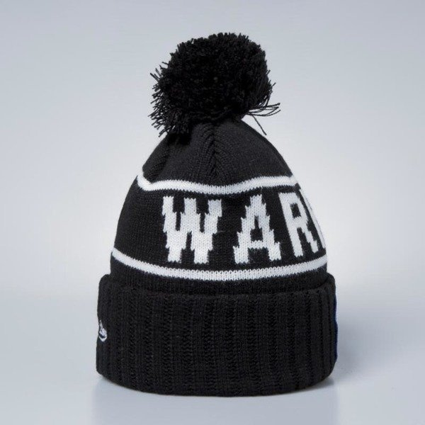 Czapka zimowa Mitchell & Ness Golden State Warriors Beanie black / white Glow In The Dark Pom Knit