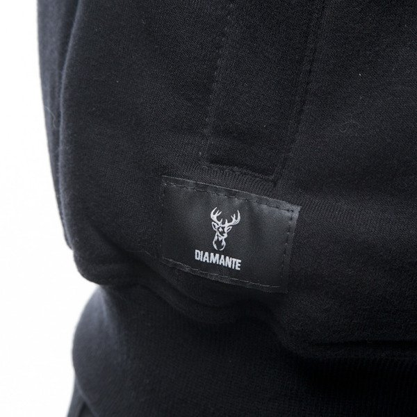 Diamante Wear bluza Skull Zip Hoodie black