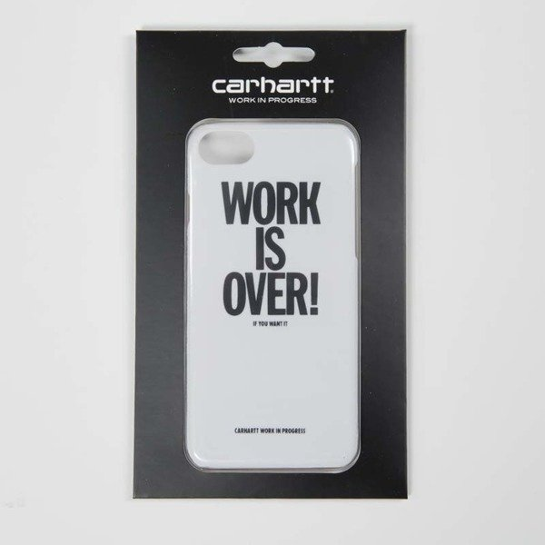 Etui Carhartt Work Is Over iPhone Hardcase white