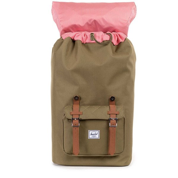Herschel plecak Little America army quilted / tan leather (10014-00867)