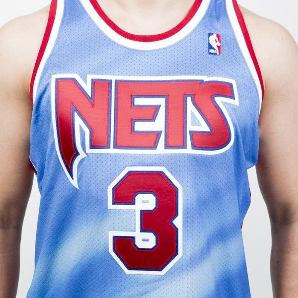 Jersey Mitchell & Ness Brooklyn Nets #3 Drazen Petrovic 1990-91 sky / red Authentic Jersey