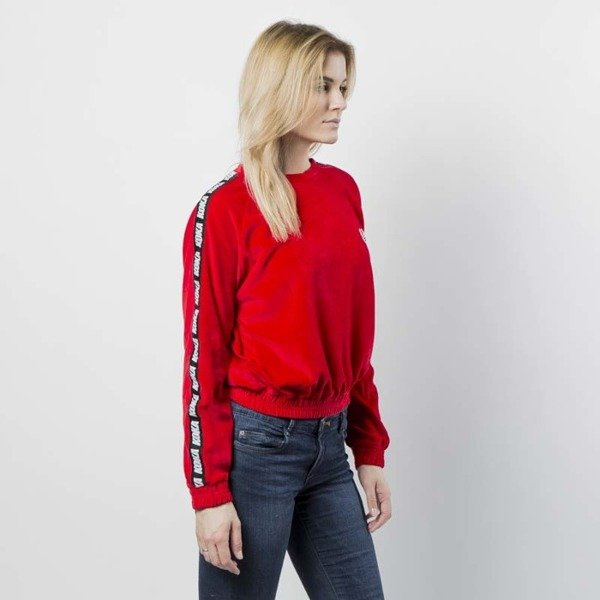 KOKA bluza damska Fake-Tape Velvet Crewneck red