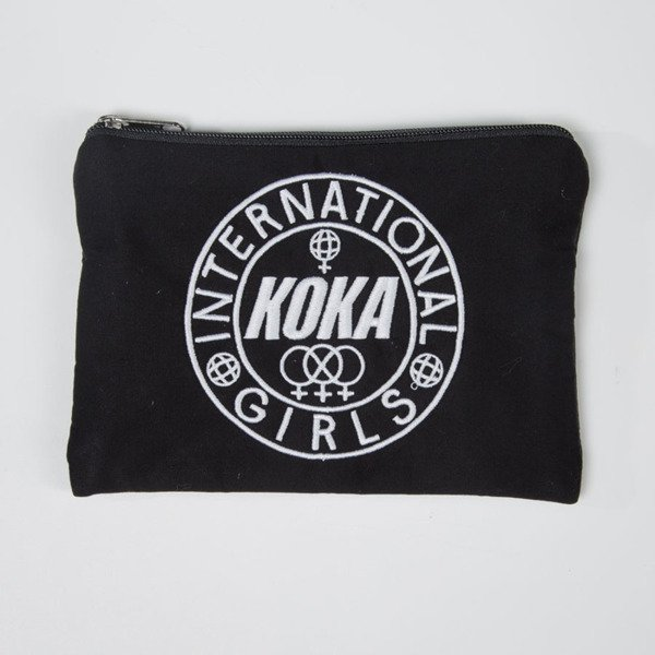 Koka portfel saszetka International Girls Small Case black