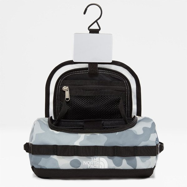 Kosmetyczka The North Face Base Camp Travel Canister - S white camo / black
