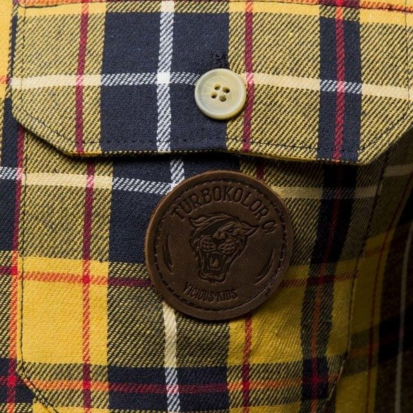 Koszula Turbokolor Shirt Flannel Earth Scottish Tartan yellow