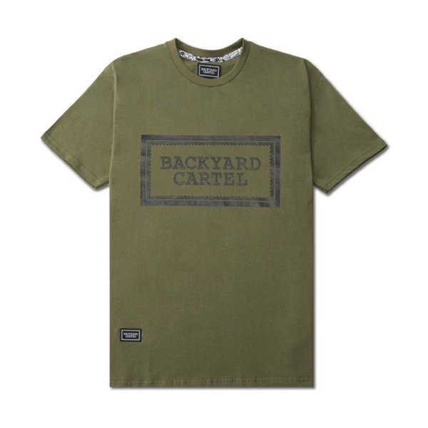 Koszulka Backyard Cartel T-Shirt Label Logo khaki