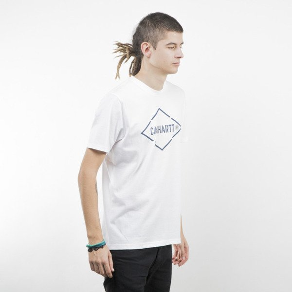Koszulka Carhartt WIP Diamond T-Shirt white / navy