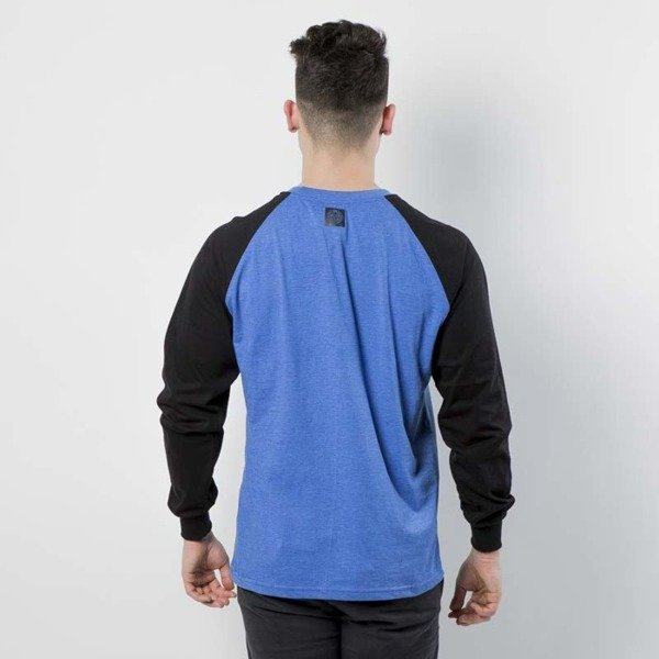 Koszulka Mass Denim Longsleeve Base Reglan heather blue / black