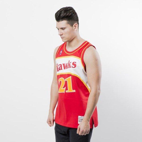 Koszulka Mitchell & Ness Atlanta Hawks #21 Dominique Wilkins red Swingman Jersey