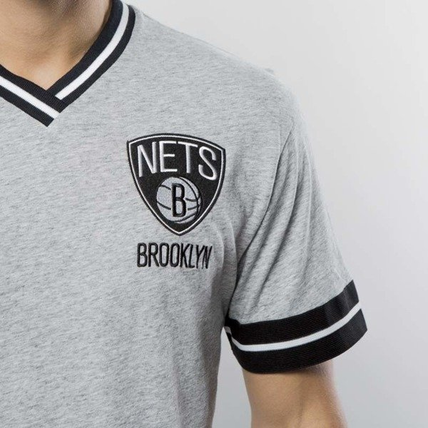 Koszulka Mitchell & Ness Brooklyn Nets T-shirt grey heather Overtime Win Vintage Tee 2.0